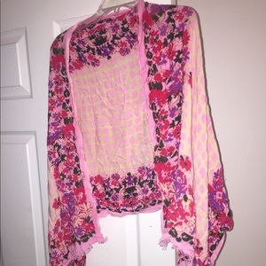 Lucky brand floral scarf
